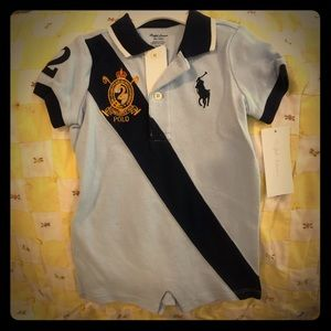 Polo onesie one piece outfit romper